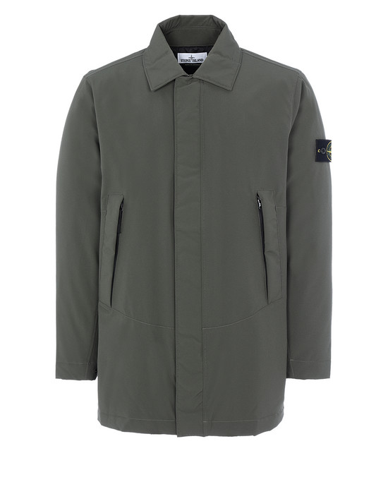 STONE ISLAND 41727 SOFT SHELL-R WITH PRIMALOFT® INSULATION Mid-length jacket Man Musk Green