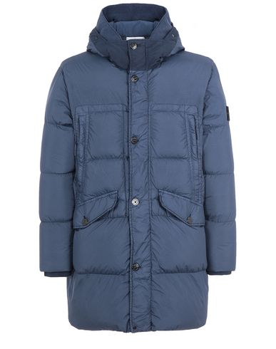 STONE ISLAND 70123 GARMENT DYED CRINKLE REPS NY DOWN Mid-length jacket Man Marine Blue USD 1265