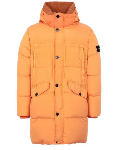 STONE ISLAND 70123 GARMENT DYED CRINKLE REPS NY DOWN Mid-length jacket Man Orange EUR 989