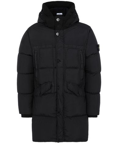 STONE ISLAND 70123 GARMENT DYED CRINKLE REPS NY DOWN Manteau court Homme Noir EUR 692