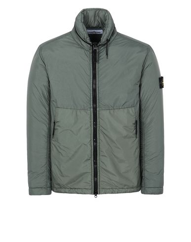 STONE ISLAND 40523 GARMENT DYED CRINKLE REPS NY WITH PRIMALOFT®-TC Jacket Man Sage Green EUR 468