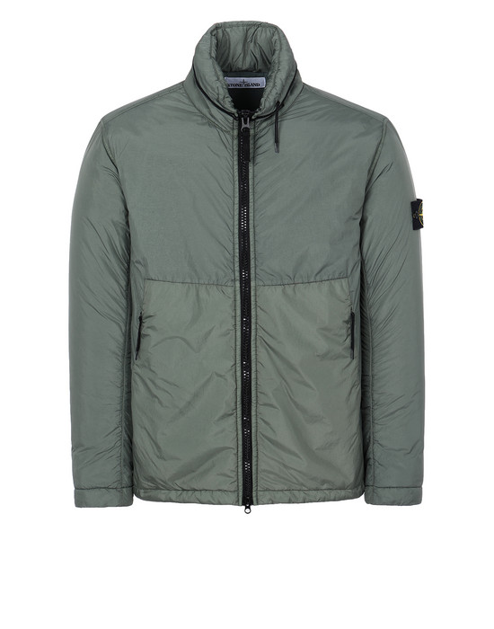 STONE ISLAND 40523 GARMENT DYED CRINKLE REPS NY WITH PRIMALOFT®-TC Jacket Man Sage Green