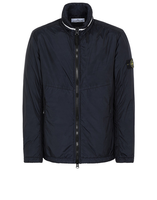 Jacket Man 40523 GARMENT DYED CRINKLE REPS NY WITH PRIMALOFT®-TC Front STONE ISLAND