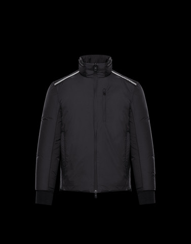 QUEYRON Black Down Jackets Man