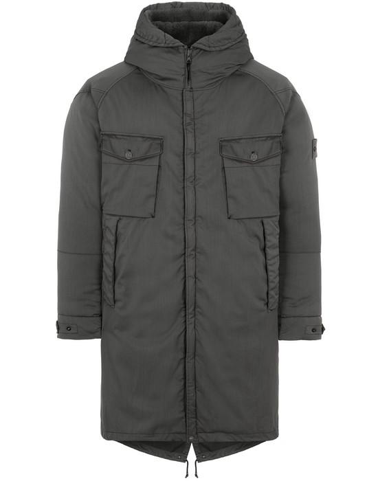 Sold out - STONE ISLAND 716F2 STRETCH WOOL NYLON-TC DOWN_GHOST PIECE Mid-length jacket Man Dark Gray