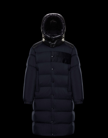 AUTARET Dark blue Long Down Jackets Man
