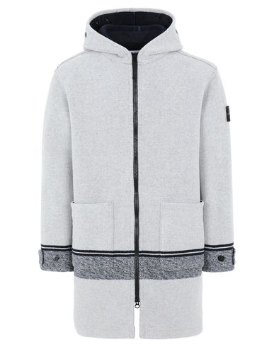 STONE ISLAND 71252 PANNO JACQUARD Mid-length jacket Man Butter EUR 1019
