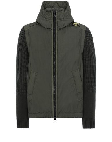 STONE ISLAND 43732 NASLAN LIGHT WATRO WITH PRIMALOFT®-TC Jacket Man Musk Green EUR 855