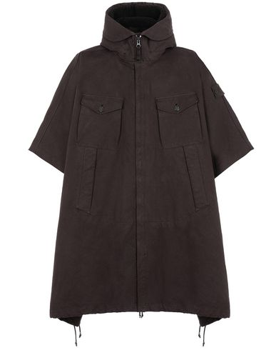 STONE ISLAND 717F1 RASO GOMMATO DOUBLE_GHOST PIECE CAPE Man Dark Brown USD 1310