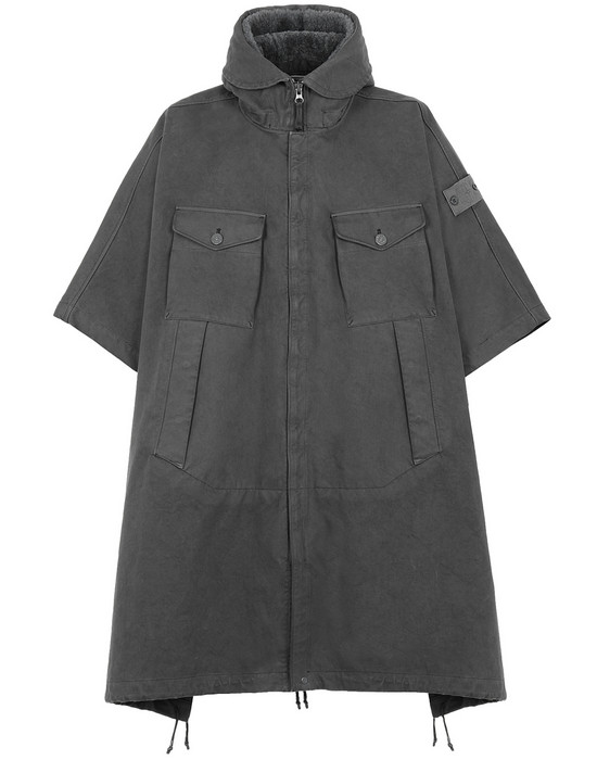 FUNKTIONALER PONCHO 717F1 RASO GOMMATO DOUBLE_GHOST PIECE STONE ISLAND - 0