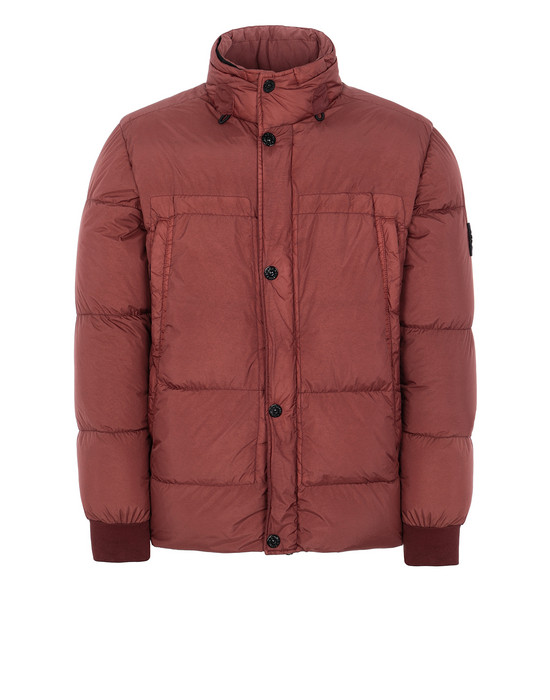 STONE ISLAND 40123 GARMENT DYED CRINKLE REPS NY DOWN Jacket Man Dark Burgundy