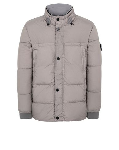 STONE ISLAND 40123 GARMENT DYED CRINKLE REPS NY DOWN Jacket Man Mud USD 558