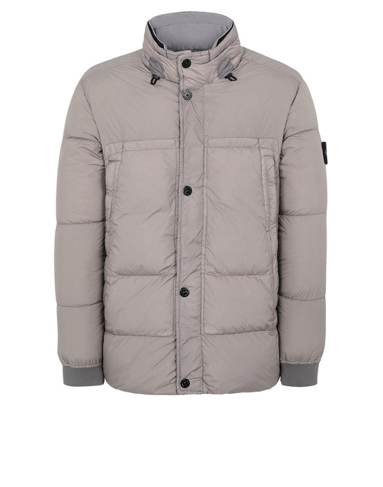STONE ISLAND 40123 GARMENT DYED CRINKLE REPS NY DOWN Jacket Man Mud