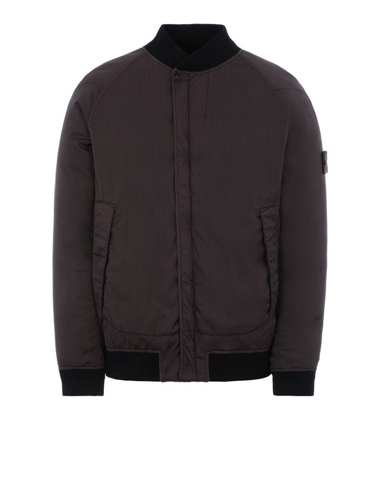 STONE ISLAND 439F2 STRETCH WOOL NYLON-TC DOWN_GHOST PIECE 休闲夹克 男士 棕黑色