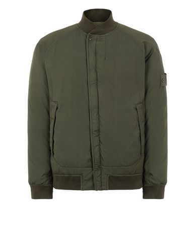 STONE ISLAND 439F2 STRETCH WOOL NYLON-TC DOWN_GHOST PIECE Jacket Man Military Green USD 601