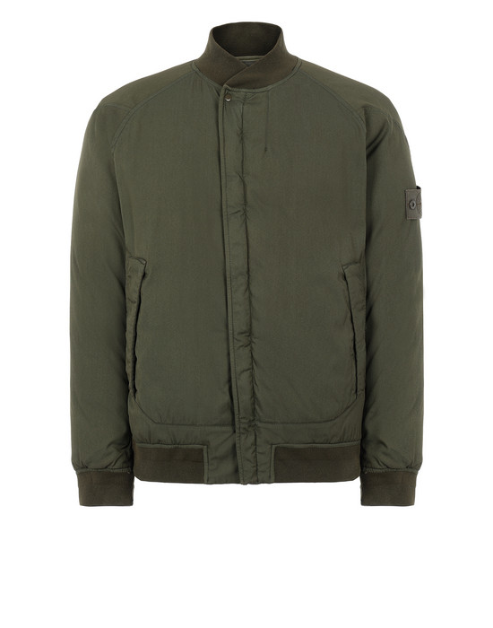 STONE ISLAND 439F2 STRETCH WOOL NYLON-TC DOWN_GHOST PIECE ブルゾン メンズ ミリタリーグリーン