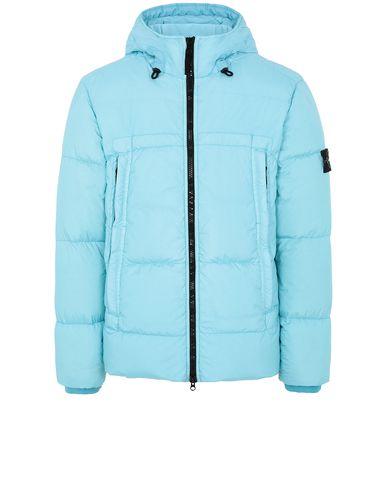 STONE ISLAND 40723 GARMENT DYED CRINKLE REPS NY DOWN Jacket Man Aqua EUR 531