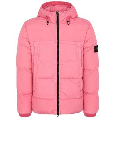 STONE ISLAND 40723 GARMENT DYED CRINKLE REPS NY DOWN Jacket Man Cyclamen EUR 403