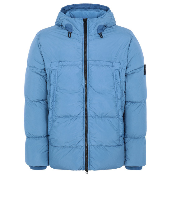 Jacket Man 40723 GARMENT DYED CRINKLE REPS NY DOWN Front STONE ISLAND