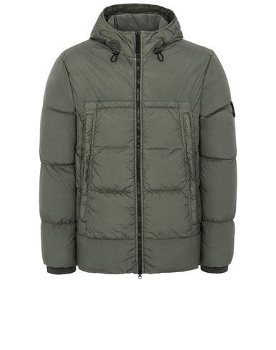 STONE ISLAND 40723 GARMENT DYED CRINKLE REPS NY DOWN Jacket Man Musk Green EUR 759