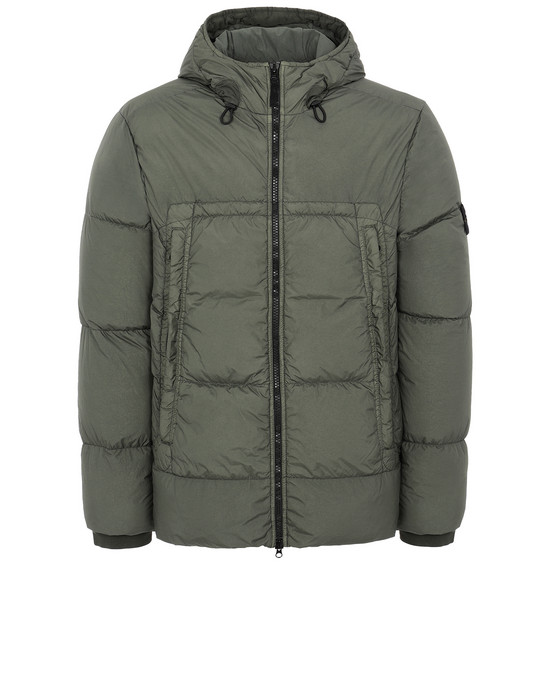 STONE ISLAND 40723 GARMENT DYED CRINKLE REPS NY DOWN Jacket Man Musk Green