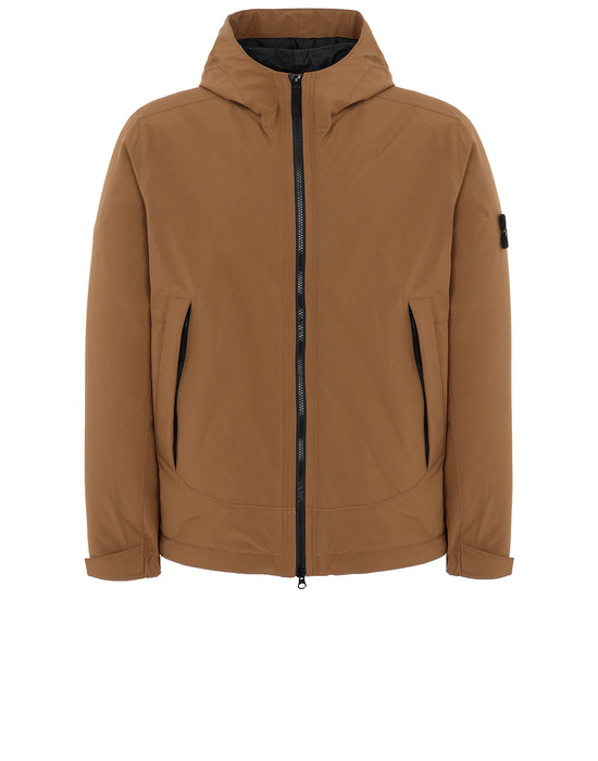 STONE ISLAND 41627 SOFT SHELL-R WITH PRIMALOFT® INSULATION Jacket Man Tobacco