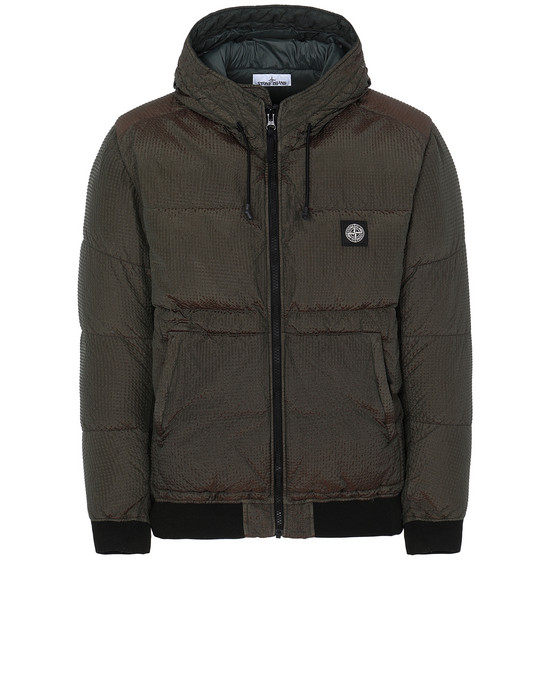 Jacket Man 42634 POLY-COLOUR FRAME DOWN-TC Front STONE ISLAND