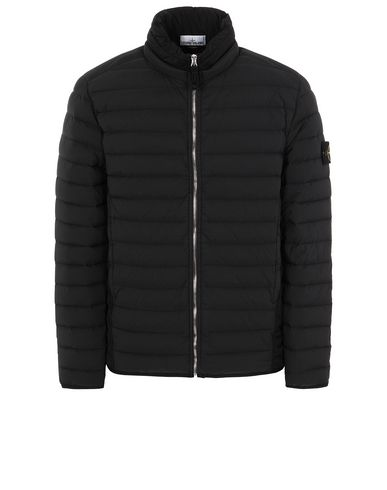 STONE ISLAND 41025 LOOM WOVEN DOWN CHAMBERS STRETCH NYLON-TC Jacket Man Black EUR 695