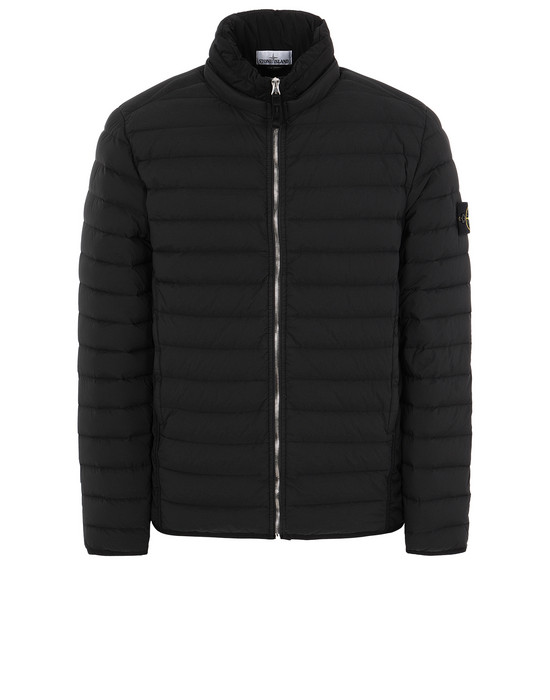 STONE ISLAND 41025 LOOM WOVEN DOWN CHAMBERS STRETCH NYLON-TC Jacket Man Black