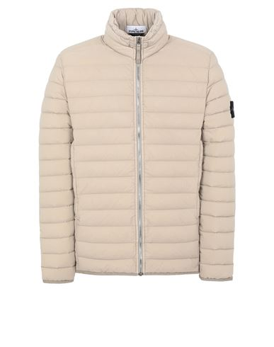 STONE ISLAND 41025 LOOM WOVEN DOWN CHAMBERS STRETCH NYLON-TC Jacket Man Mud EUR 695