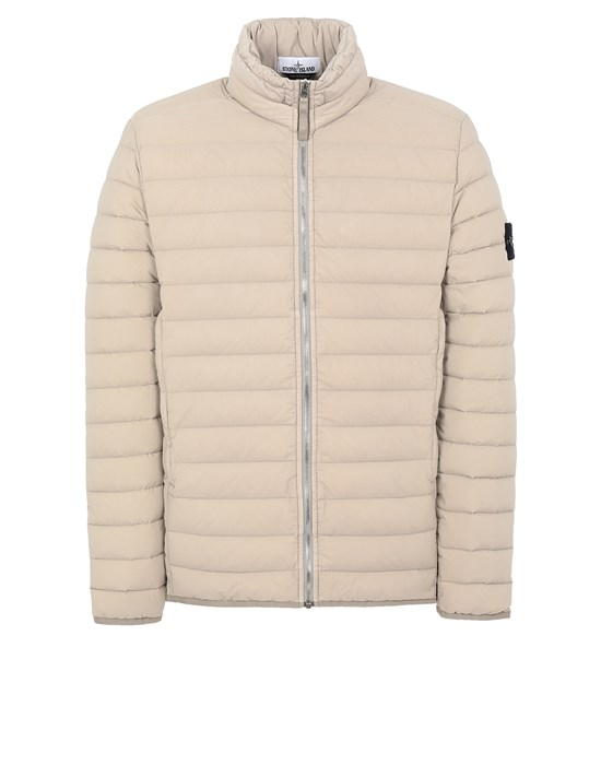 STONE ISLAND 41025 LOOM WOVEN DOWN CHAMBERS STRETCH NYLON-TC Jacket Man Mud
