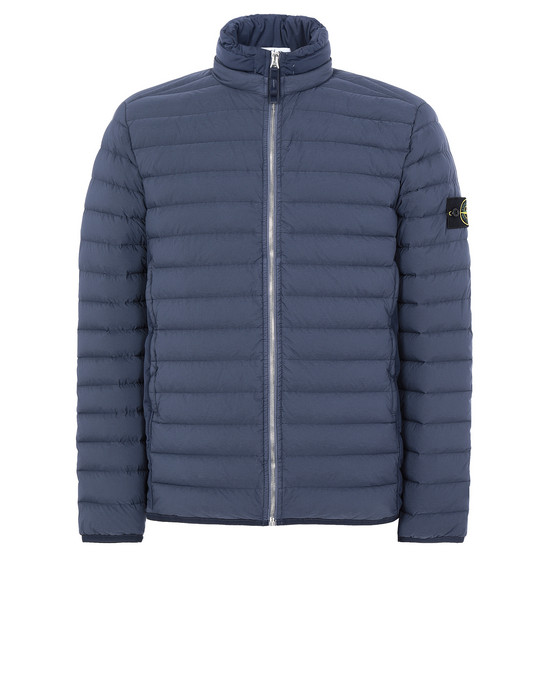 STONE ISLAND 41025 LOOM WOVEN DOWN CHAMBERS STRETCH NYLON-TC Jacket Man Marine Blue
