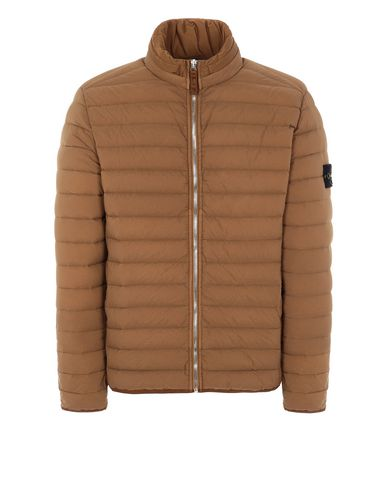 STONE ISLAND 41025 LOOM WOVEN DOWN CHAMBERS STRETCH NYLON-TC Jacket Man Tobacco EUR 487