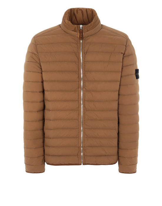 STONE ISLAND 41025 LOOM WOVEN DOWN CHAMBERS STRETCH NYLON-TC Jacket Man Tobacco
