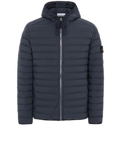 STONE ISLAND 41125 LOOM WOVEN DOWN CHAMBERS STRETCH NYLON-TC Jacket Man Blue EUR 506