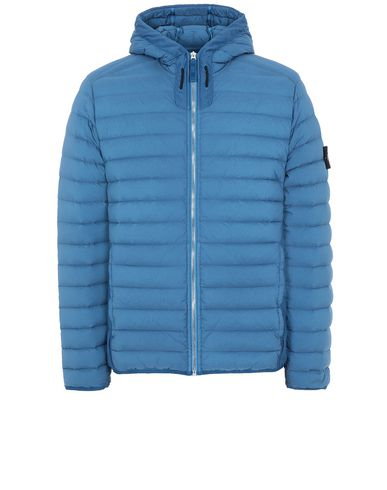 STONE ISLAND 41125 LOOM WOVEN DOWN CHAMBERS STRETCH NYLON-TC Jacket Man Periwinkle EUR 485