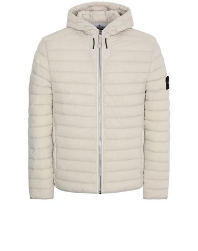 STONE ISLAND 41125 LOOM WOVEN DOWN CHAMBERS STRETCH NYLON-TC Jacket Man Dove Gray EUR 506