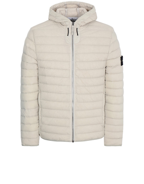 STONE ISLAND 41125 LOOM WOVEN DOWN CHAMBERS STRETCH NYLON-TC Jacket Man Dove Grey