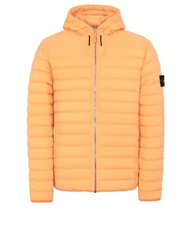 STONE ISLAND 41125 LOOM WOVEN DOWN CHAMBERS STRETCH NYLON-TC Jacket Man Orange EUR 669