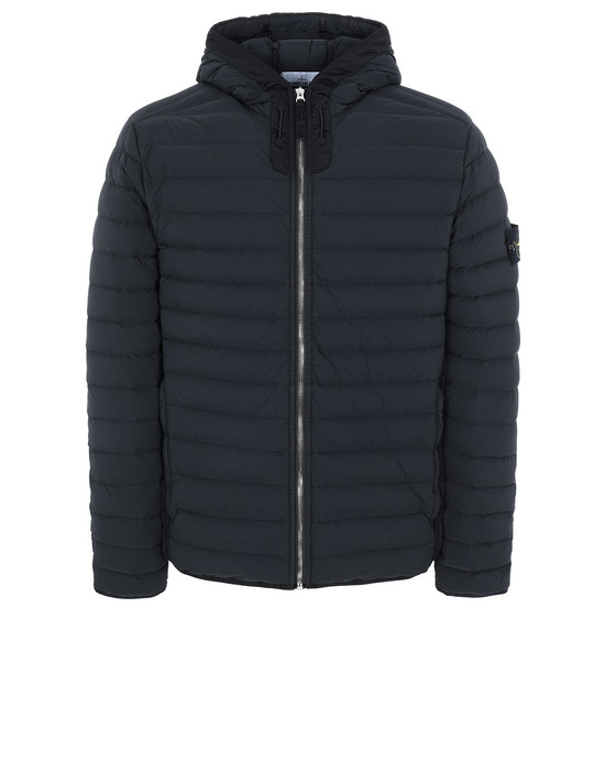 STONE ISLAND 41125 LOOM WOVEN DOWN CHAMBERS STRETCH NYLON-TC Jacket Man Black