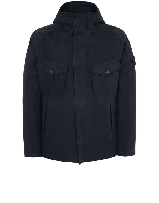 STONE ISLAND 441F1 RASO GOMMATO DOUBLE_GHOST PIECE  Jacket Man Blue