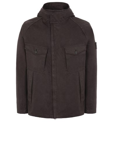 STONE ISLAND 441F1 RASO GOMMATO DOUBLE_GHOST PIECE  Jacket Man Dark Brown USD 598