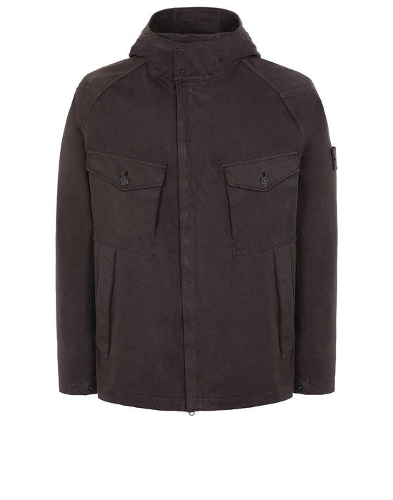 STONE ISLAND 441F1 RASO GOMMATO DOUBLE_GHOST PIECE  Jacket Man Dark Brown