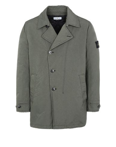 STONE ISLAND 42149 DAVID-TC WITH PRIMALOFT® INSULATION TECHNOLOGY Mid-length jacket Man Musk Green EUR 814