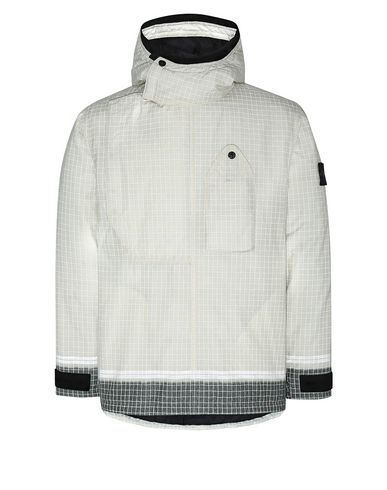 STONE ISLAND 43399 REFLECTIVE RIPSTOP CHINÉ WITH PRIMALOFT® INSULATION TECHNOLOGY Mittellange Jacke Herr Butter EUR 909