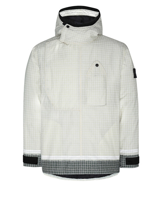 Mid-length jacket Man 43399 REFLECTIVE RIPSTOP CHINÉ WITH PRIMALOFT® INSULATION TECHNOLOGY Front STONE ISLAND