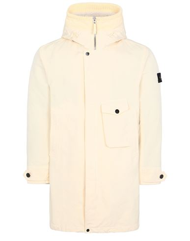 STONE ISLAND 70749 DAVID-TC_DETACHABLE LINING Mid-length jacket Man Butter USD 1773