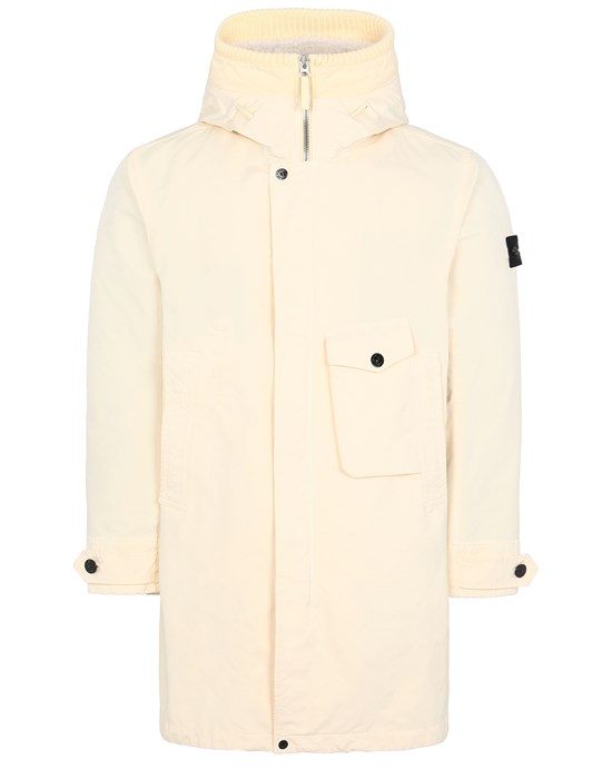 STONE ISLAND 70749 DAVID-TC_DETACHABLE LINING Mid-length jacket Man Butter