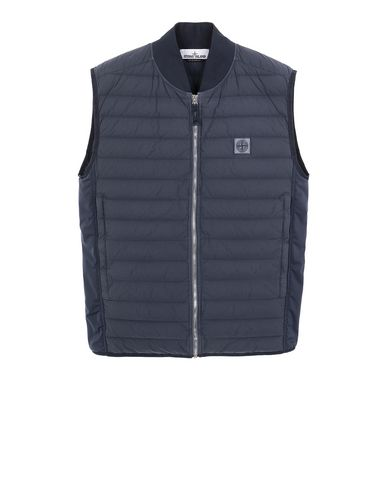 STONE ISLAND G0225 LOOM WOVEN DOWN CHAMBERS STRETCH NYLON-TC Vest Man Marine Blue EUR 492
