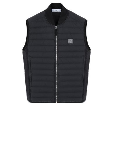 STONE ISLAND G0225 LOOM WOVEN DOWN CHAMBERS STRETCH NYLON-TC Waistcoat Man Black EUR 449